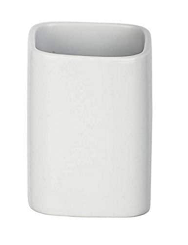 Wenko ceramica portaspazzolino Hexa opaco, Bianco, 6.5x 6.5x 9cm