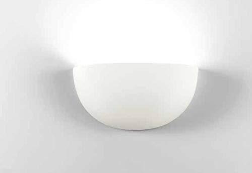 applique conca gesso bianca lampada da parete per interni moderna verniciabile made in italy