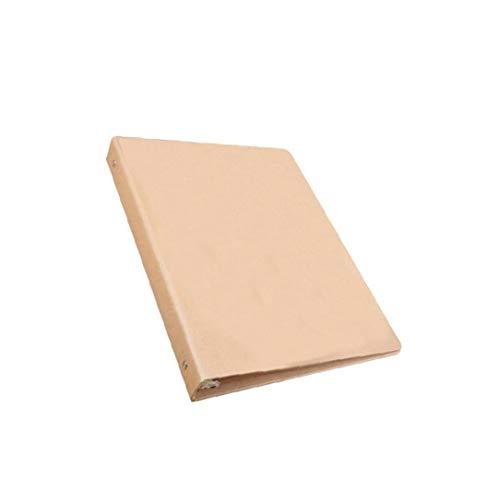 A5 Binder Vertikal Ordner Platz Skizzen Plain Kraft Ordner Multifunktions-DIY-Abdeckung Abnehmbare Metallringbuch mit 6 Löchern