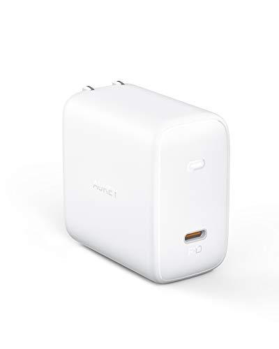 AUKEY ラップトップ充電器 Omniaシリーズ オム二ア 100W PD3.0 ノートPC充電可能 USBアダプタ GaN充電器 USB-C 急速充電器 GaN (窒化ガリウム) 採用 ノートPC充電可能 折畳式 iPhone 11 / 11 Pro / 11 Pro Max / XR / 8、 Galaxy S10 / S10+、MacBook Pro、その他USB-C機器対応 PA-B5 ホワイト