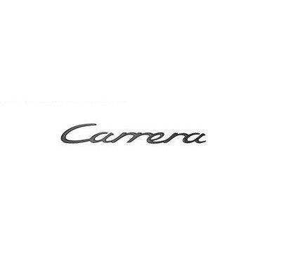 CARRERA Rear Badge 26cm. Porsche 996 / 997 (BLACK Carrera Badge)