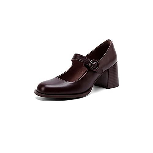 Wangchngqing Chaussures Robes pour Femmes Chaussures, Chaussures Vintage Chaussures Femmes Talons Hauts Cuir Hauts Talons Hauts Femme au Foyer ménage Bureau chaises Quotidien Femme Femme élégante