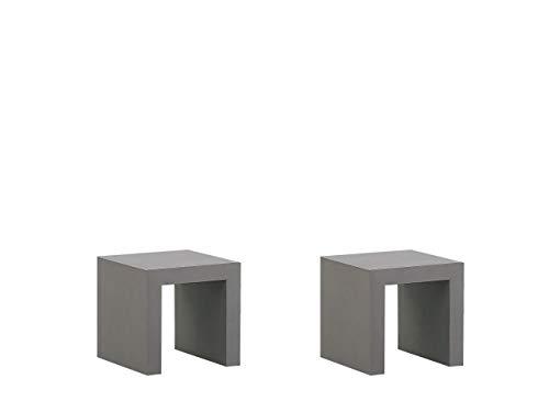 Beliani Conjunto de 2 sillas de jardín de hormigón TARANTO