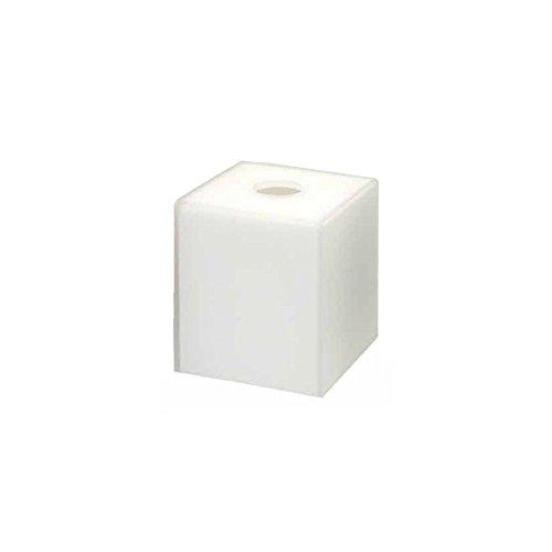 "FOH RTB007FRR11 Nassau Ice White 5.25"" Tissue Box Cover"