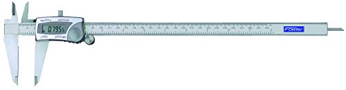 """Fowler 541007122 Stainless Steel Frame IP54 Water Resistant Electronic Caliper, Absolute Sensor Technology, 0-12""""/300 mm Measuring Range, 54-100-712-2, Silver"""