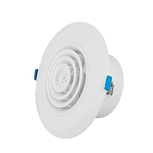 PYSDWE Rejilla de válvula de extracto de Aire de lumbrera Ajustable Grille 75-200mm ABS Difusor Redondo Ducción Cubierta de ventilación Cubierta de Aire Fresco Interior (Color : Round 125mm A)