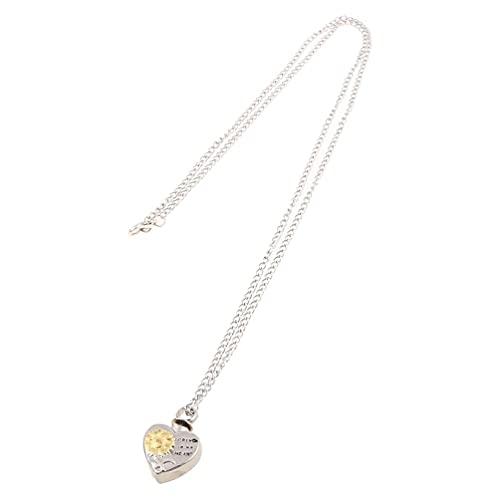 SHAOKAO Collar de urna de cremación en forma de corazón de girasol para cenizas Memorial colgante collares de joyería en capas
