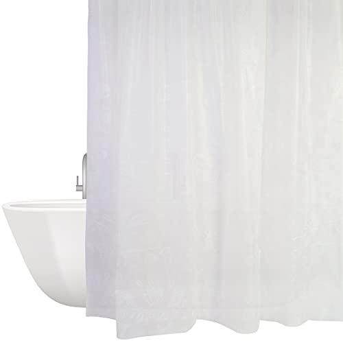Duschvorhang Anti-Schimmel, Duschvorhänge 180x200cm Wasserdicht Shower Curtains Badevorhang mit 12 Duschvorhangringen
