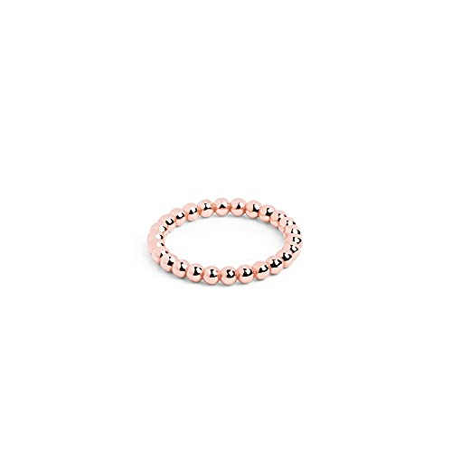 SINGULARU ® - Anillo Midi Pebbles Oro Rosa - Joyas mujer