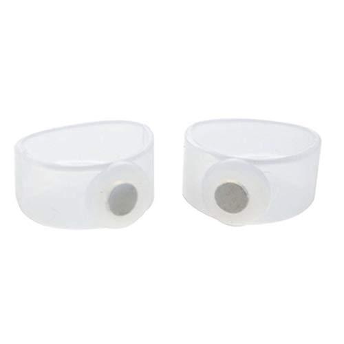 vbncvbfghfgh 2PCS Silicio Adelgazante Masajeador magnético de pies Massge Relax Toe Ring para Perder Peso Herramientas de Cuidado de la Salud Productos de Belleza