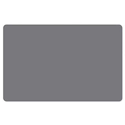 Flexible Silicone Placemat Grey, 23.6   × 15.7  , Non Slip Waterproof Heat Resistant Easy Clean, 1 PCS