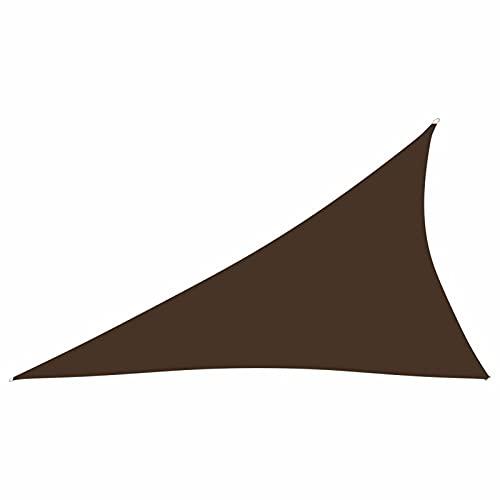 Tidyard Toldo de Vela Triangular de Tela Toldo Vela de Sombra Protección Solar,Impermeable y Protección UV para...