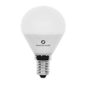 LAMPARA LED ESFERICA 45mm 5W E14 3000K marca BENEITO FAURE