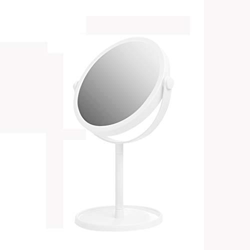 Miroir de Maquillage de 6 Pouces, Grand Miroir de Maquillage Portable de Table pivotant, Hauteur de 13 Pouces,White,M