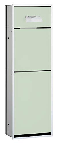 Emco Asis 300 inbouw badkamerkast, met cosmeticatoekendispenser, afvalverzamelaar, stopcontact, aluminium/glas wit - 975227951
