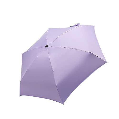 PPCERY Pequeño Paraguas Plegable Lluvia Mujer Regalos Hombres Mini Bolsillo Parasol Chicas Anti-URO Impermeable contemporáneo contemporáneo Paraguas (Color : 4)