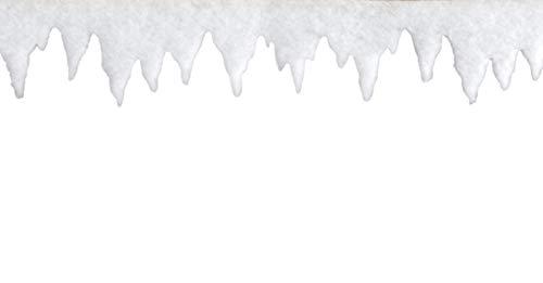 Riffelmacher 68565 Dekoration Eiszapfengirlande Eiszapfen Dekogirlande-Weihnachten und Basteln 5 Meter, Weiß
