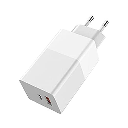 Tuimiyisou Fast USB Plug Cargador de teléfono 65W GAN Cargador Cargador de teléfono móvil Quik de Carga portátil para el Ordenador portátil teléfono Blanco Rendimiento confiable
