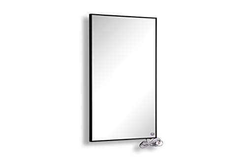 Hybrid Spiegel Infrarotheizung 1000 Watt inkl. schwarzem Rahmen mit 5 Jahren Garantie