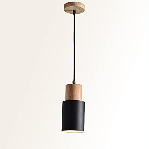 MUMUMI Macarrón moderno europeo LED lámpara de araña simple decoración decoración junto a la cama colgante de aluminio lámpara de aluminio cilíndrico abriendo la luz colgante de la luz