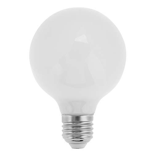 Operalie Bombilla LED de 7W, lámpara de Ahorro de energía Base de 7W E27 Lámpara LED de decoración de luz de Oficina en casa G80 AC 220V(Blanco frío 6500K)