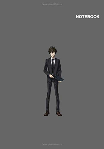 Psycho-Pass Anime Boy Notebook Cover: 110 Pages, B5, 7 x 10 inches, Classic Lined pages.