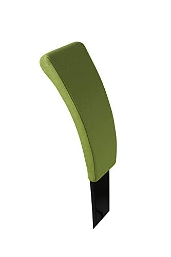 Respaldo con cojín para Varier Variable - Madera Negro, Tejido Revive Verde Lime