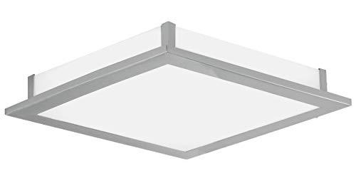Eglo Wand Deckenleuchte LED Modell Auriga / / 1 x 18 W LED 1330lm, 2 / 38.5 x 38.5 cm / Ausladung 6.5 cm 91684