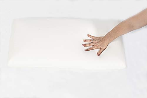 OkColchones Almohada Relax Viscoelástica - Transpirable -Hipoalergénica - Doble Funda (90)