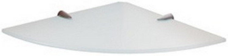 Gedy 2119-24 Corner Ultralight Glass Shelf, Chrome 18.5 lb