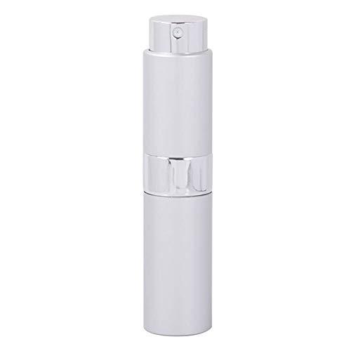 Flacon 1pcs De Haute Qualité 15ML Mini Aluminium Parfum Bouteille Vide Remplissage Parfum Spray Atomiseur Bouteille Rotary (Color : Silver, Material : Metal)