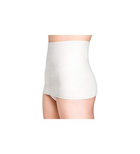 Medima Classic ThermoAS Rückenwärmer mit Seide ,Ganzjahresschutz weiß - Größe XL