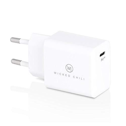 Wicked Chili Cargador USB C 20W Compatible con Magsafe Duo Charger, iPhone 12 (Pro, MAX, Mini), Apple Watch (SE 6 5 4 3 2 1) y AirPods Pro, Adaptador de Corriente Carga rápida PD Power Delivery