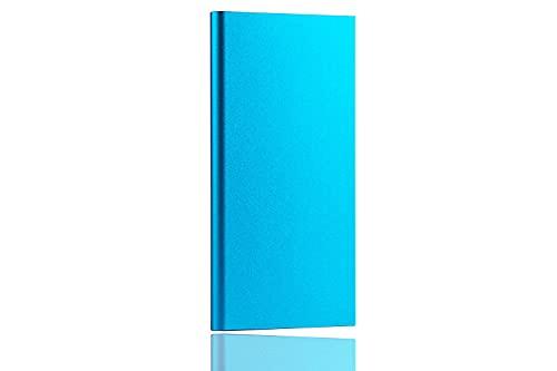 rongshengxinye Mobile Power 20000 mAh Banco de energía portátil Dual USB LED linterna externa batería para iPhone Xiaomi Huawei Samsung Phone Poverbank (Color: Azul)