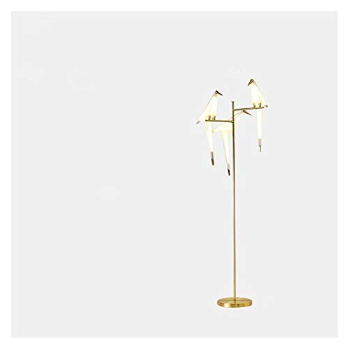 YSJSPKK Lámpara de pie Lámpara de pie Art Deco Papel Estudio Sala de Estar Dormitorio LED Lámpara de pie Estudio al Lado de la lámpara de pie de Oro de Origami. (Lampshade Color : 3 Heads 18W)