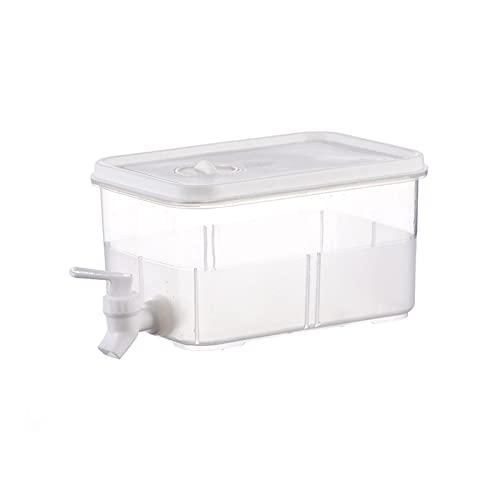 Dispensador de bebidas de 3 l con grifo, hervidor de agua fría para frigorífico, recipiente para té frío para frigorífico de gran capacidad, tetera de limón para frutas, balde para agua fría, botella