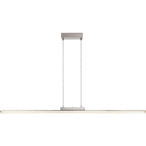 Zeitlose LED Hängeleuchte nickel matt Acryl klar und satiniert 23W Globo 68056H2
