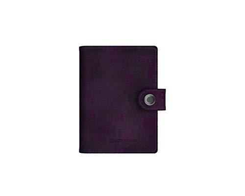 Lite Wallet Matte Deep Wine - Edler Kartenhalter aus hochwertigem Leder - Integrierte LED-Lampe mit Zwei Lichtstärken - RFID-Blocker zum Schutz persönlicher Daten -
