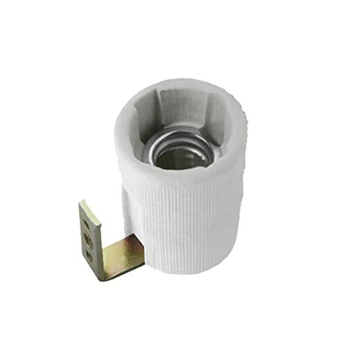 Portalampada in ceramica 230V attacco E14 con staffa di fissaggio resistenze ad alte temperature