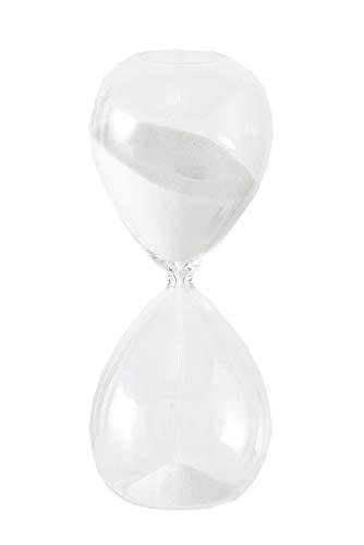 B.o.l.t.z.e 1 x Sanduhr Lurona Glas Höhe 20 cm, Farben:weiß