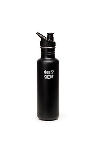 Klean Kanteen KleanKanteen Flasche 'Classic' Sports Cap-0,8 L Matt schwarz