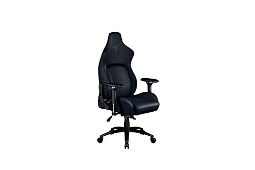 Razer Iskur Gaming Chair: Ergonomic Lumbar Support System - Multi-Layered Synthetic Leather - High Density Foam Cushions - Engineered to Carry - Memory Foam Head Cushion - Black