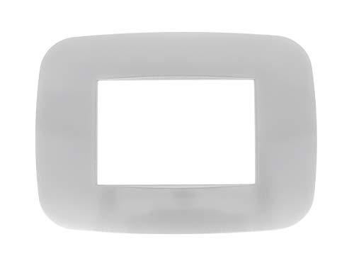 SANDASDON SD23003-7 Placca Futura 3M Silver Compatibile Bticino Axolute