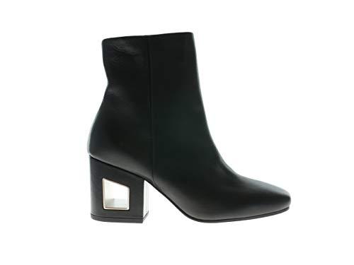 VIC MATIÉ Schuhe Stiefeletten Boots mit Absatz Schwarz Leder, Größe:35
