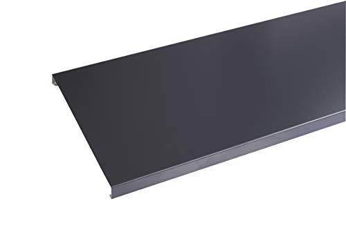 Couvertine aluminium 1 mm gris ardoise 7016-2 mètres - 200 mm