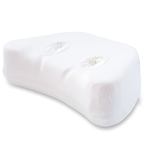 PureComfort – Side Sleeping Pillow | Height Adjustable | Ear Pain Relief | CPAP Pillow | Wrinkle Prevention | TMJ | CertiPUR-US Memory Foam with Soft Bamboo Cover (Soft)