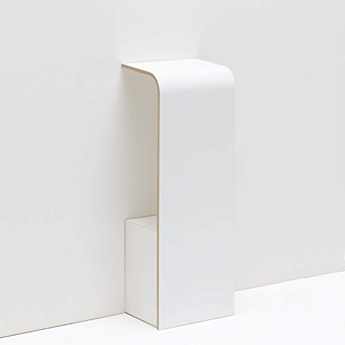 Tojo fon   Wandkonsole für das Telefon   Weiß   Moderne Wandablage für Telefon/Schlüssel/Notizzettel   Telefontisch aus Holz   Designer Regalkonsole 31 cm x 25 cm x 85 cm (L x T x H)