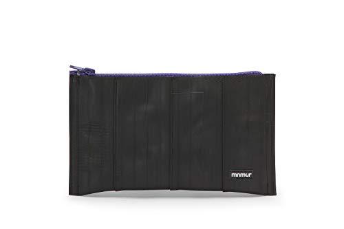 Unisex Kupplung schwarz und violett. Reißverschluss Beutel. Veranstalter Tasche/Reise Tasche/Handtasche/Clutch aus Fahrradschlauch Upcycling/Recycling