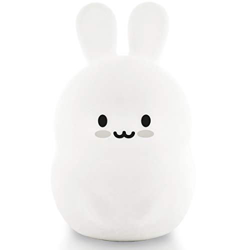 Lumipets Bunny Night Light for Kids Cute Silicone LED Animal...