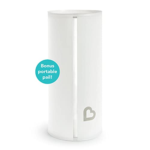 Munchkin Step Diaper Pail Powered by Arm & Hammer, Includes (1) Bonus Toss Disposable Diaper Pail